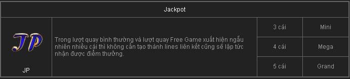Các Jacpot từ game