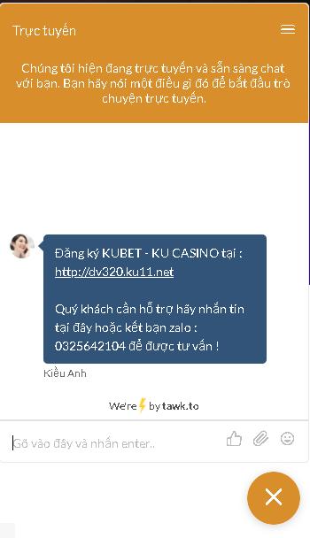 liên hệ hỗ trợ kubet