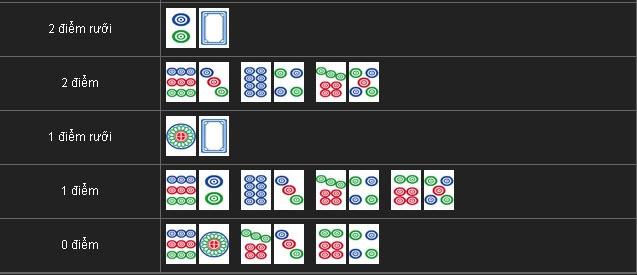 Điểm số từng loại bài