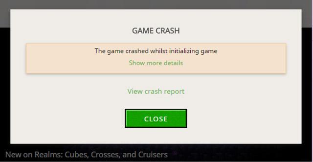Cách sửa lỗi Crash Report Minecraft Win 10